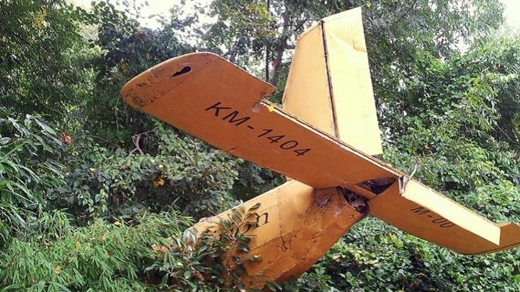 ВСША самолет врезался вдерево