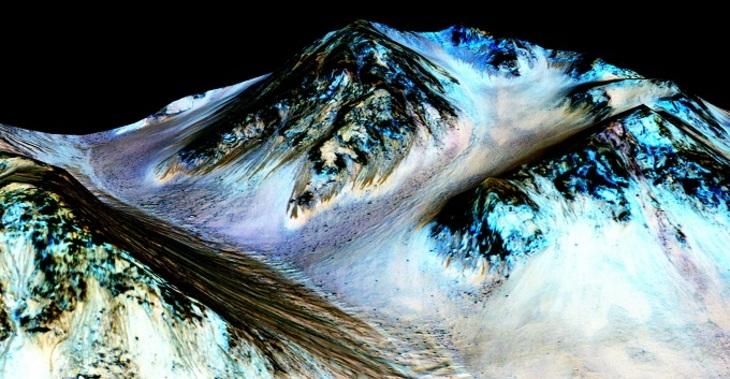 Ученые NASA обнаружили наМарсе самые большие  запасы воды