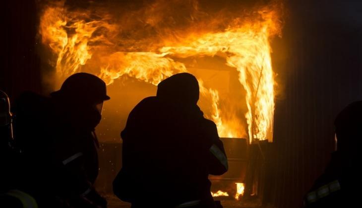 В «Зимней вишне» вКемерово вновь вспыхнул пожар