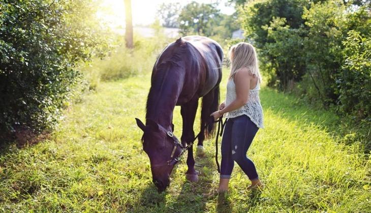 Журналистка приостановила  скачущего коня впрямом эфире