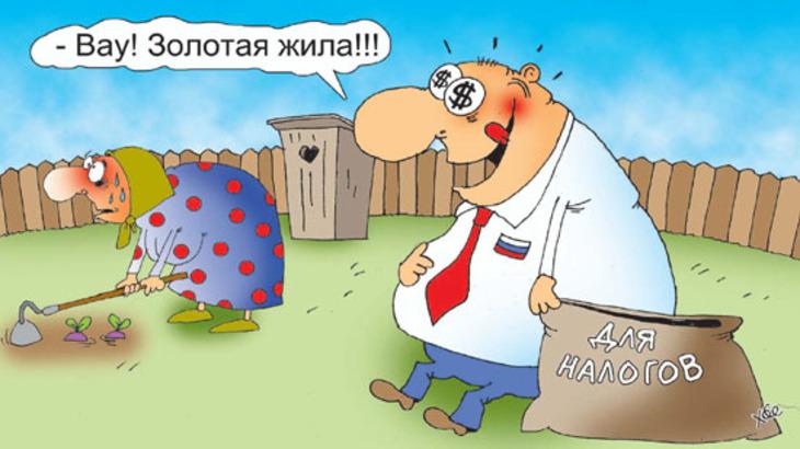 Картинки по запросу Карикатура Дачники и налог