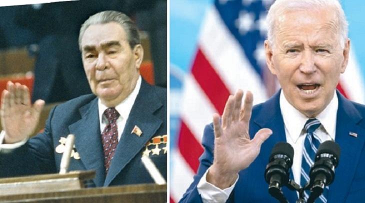 Brezhnev and Biden: two eras - two political elders - photo