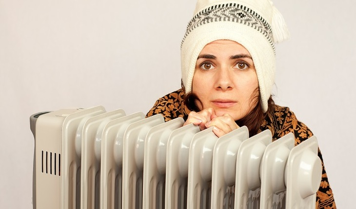When the heating is turned on - photo
