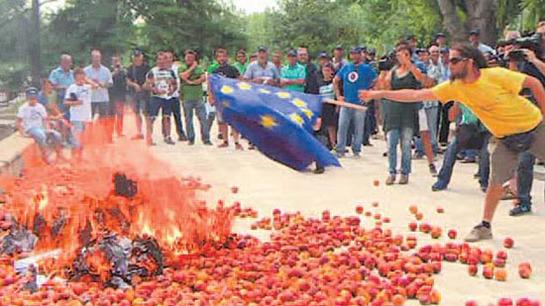 Фермеры Европы против санкций ЕС