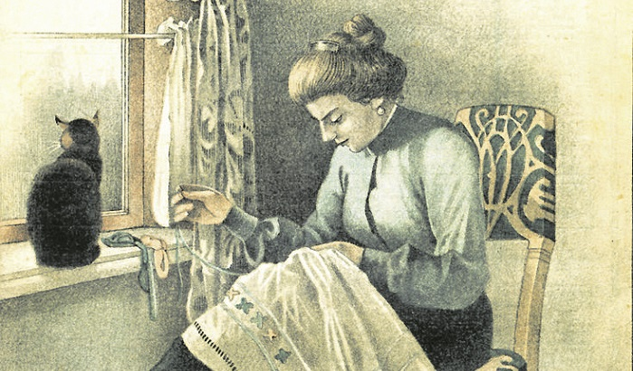 Chinese woman at work in the 18-19 century