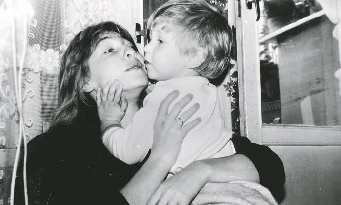 Катя Семенова с маленьким сыном Иваном